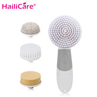 4 In 1 Electric Facial Cleanser Deep Cleansing Skin Care Blackhead Removal Washing Brush Massager Face Body Exfoliator Scrub