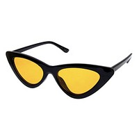 Cat Eye Shades - Black/ Yellow