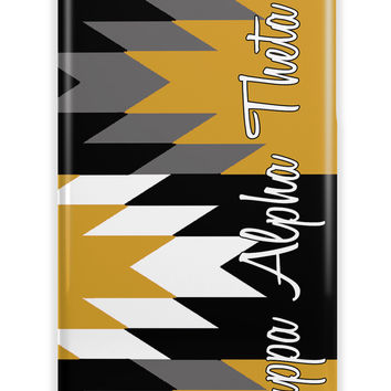 Kappa Alpha Theta - Thin chevron black and gold - KAO sorority Iphone case