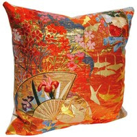 Custom Pillow Cut from Vintage Japanese Silk Uchikake Wedding Kimono