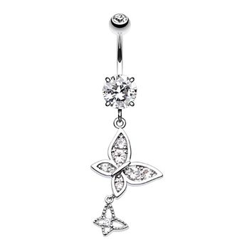 Butterfly Dance Belly Button Ring