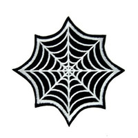 Gothic Spider Web Iron On Patch Halloween Applique