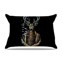"""BarmalisiRTB """"There Is No Place"""" Multicolor Deer Pillow Case"""