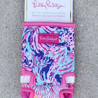Lilly Pulitzer Koozie Set - Shrimply Chic + Oh Shello