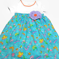 Girls Onesuit Dress , Baby Girl Dress, Girls Clothing, Bodysuit Dress