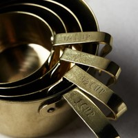 Brass-Finished Measuring Cups
