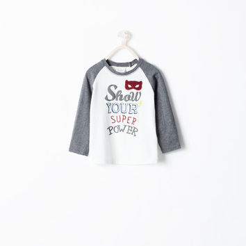 TEXT AND MASK T-SHIRT