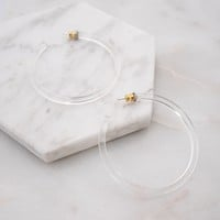 Mod + Jo - Hoop Earrings - Florence Clear Acrylic