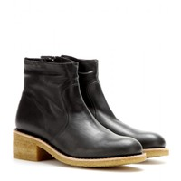 a.p.c. - leather ankle boots