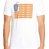 Men's Mr. Chips 'Hot Dog American Flag' Graphic T-Shirt,