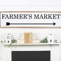 Farmers Market Arrow Farmhouse Kitchen Vinyl Wall Decal Home Decor Sticker Stencil