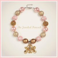 WELL DRESSED wolf, M2M WdW,duchess, monaco, gold pink brown bubblegum necklace chunky, baby , toddler, photo prop
