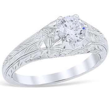 """Whitehouse Brothers """"Sweeping Lace"""" Diamond Engagement Ring"""