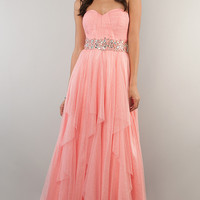 Coral Pink Prom Dress by Bee Darlin