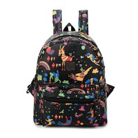 On Sale College Casual Hot Deal Back To School Stylish Comfort Mini Lovely Vintage Print Korean Backpack [6542306499]
