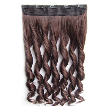 Long Curled Hair Extension 5 Cards Wig   M4/33#