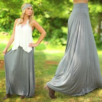 The Perfect Maxi Skirt in Grey