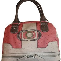 Women's Guess Purse Handbag Aurillac Pink Multi
