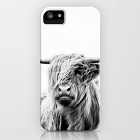 portrait of a highland cow iPhone & iPod Case by Dorit Fuhg