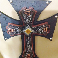 Christmas in July SALE WESTERN STYLE Cross Wall Decor with Bling