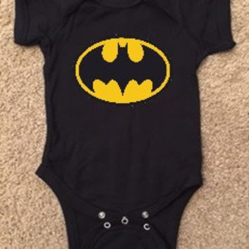 Batman Onesuit - Boy Onesuit - Childrens Clothing  - Ruffles with Love - Baby Clothing - RWL Kids