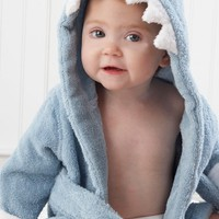 Infant Baby Aspen 'Let the Fin Begin' Terry Robe