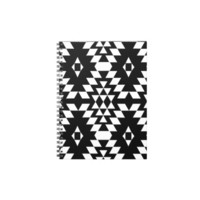 Black & White Aztec Pattern Spiral Note Books from Zazzle.com