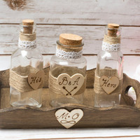 Unity Sand Set Wedding Tray Rustic Personalized Wedding Unity Ceremony Set Country Wedding Set Sand Set Unity