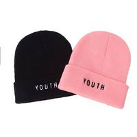 Hot Sales! YOUTH Unisex Brand Winter Hat For Men Skullies Beanies Women Men Cap Fashion Warm Knit Beanies Hat Elasticity