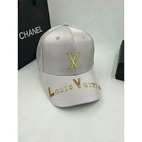 LV Louis Vuitton 2018 men and women tide brand wild casual hat F-GQHY-DLSX grey