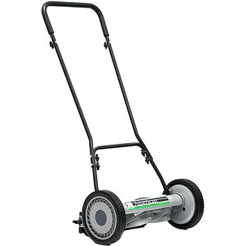 18-Inch 5-Blade Push Reel Lawn Mower, 27 Pounds, Self-propelled.