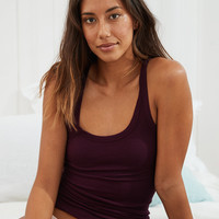 Aerie Real Soft® Ribbed Tank, Deep Plum