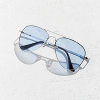 Blue Knoxville Aviator Sunglasses | Urban Outfitters