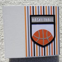 6x6 Premade Basketball Scrapbook Album