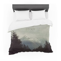 "Robin Dickinson ""Brave The Storm"" Snow Mountain Featherweight Duvet Cover"