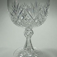 Cut glass  wine stemware Hand cut