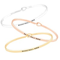 Basketball Mom Being Bangle - Thin Bracelet