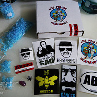 Breaking Bad Ultimate Collectors Gift Set Blue Sky Meth Candy, Stickers ,Props.