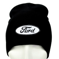 Ford Motor Company Beanie Alternative Clothing Knit Cap Car and Truck