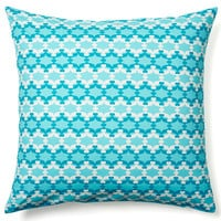 Starry 20x20 Cotton Pillow, Bright Blue, Decorative Pillows