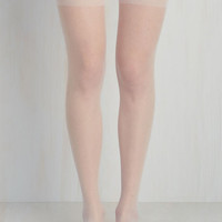 Everything Elegant Thigh Highs in White | Mod Retro Vintage Tights | ModCloth.com