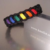 Gay Pride Rainbow Bracelet by AThomasBracelets on Etsy