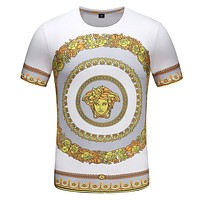 VERSACE Summer New Popular Men T-Shirt Top Tee White