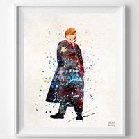 Ronald Weasley Print, Ronald Weasley Watercolor, Harry Potter Print, Harry Potter Poster, Childrens Room, Home Decor, Wall Art Prints