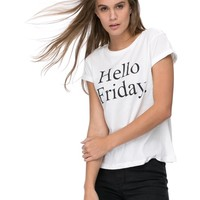 Hello Friday Tee by M.N.G Online   THE ICONIC   Australia