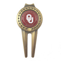 Oklahoma Sooners Divot Tool with Double Sided OU Golf Ball Marker