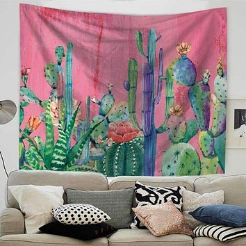 Colorful Cactus Tapestry
