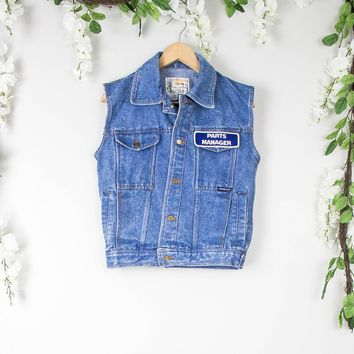 Vintage Trucker Denim Vest