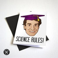 Science Rules! - Science Graduate Card - Nerdy Graduation Card