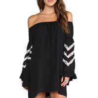 VAVA by Joy Han Miranda Off Shoulder Dress in Black